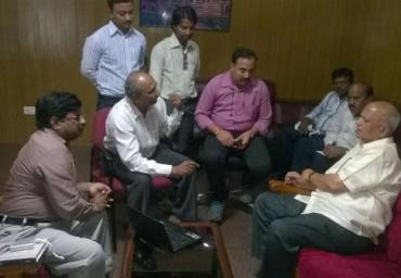 Meeting with IT&BT Minister : Energy Conservation opportunities using IT in Agriculture Field